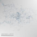 3D Mesh Backgroud abstracto gris ilustración del vector