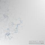 3D Mesh Backgroud abstracto gris libre illustration