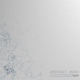 3D Mesh Backgroud abstracto gris stock de ilustración