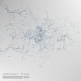 3D Mesh Backgroud abstrait gris Images libres de droits