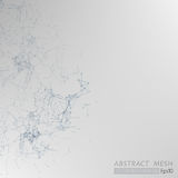 3D Mesh Backgroud abstrait gris Photos stock