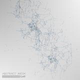 3D Mesh Backgroud abstrait gris Images stock