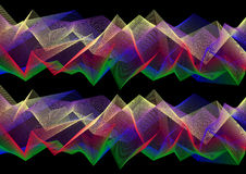 3D Mesh Background abstrait coloré avec beaucoup de lignes Photos libres de droits