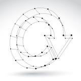 3d mesh black stylish web update sign  on white backgrou Stock Image