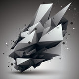 3D mesh contemporary style abstract object, origami futuristic f Royalty Free Stock Images