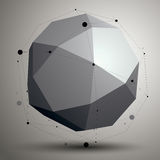3D mesh contemporary style abstract object, origami futuristic f Stock Photos