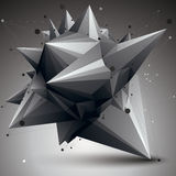3D mesh contemporary style abstract object, origami futuristic f Royalty Free Stock Photography