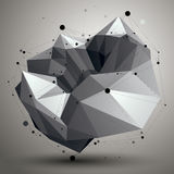 3D mesh contemporary style abstract object, origami futuristic Royalty Free Stock Photos