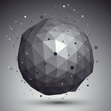 3D mesh modern style abstract background, spherical origami futu Stock Photography