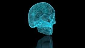 3D Mesh Skull stock video footage