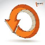 3d mesh stylish update sign isolated on white background, orange Stock Photography