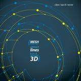 3d mesh update sign isolated on dark background, lattice reuse i stock illustration