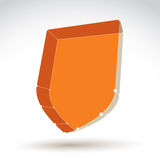 3d mesh web orange security icon  on white background, c Stock Photography
