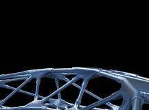 3D metaal Structurele illustratie/geeft terug Royalty-vrije Stock Fotografie