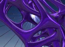 3D metaal Structurele illustratie/geeft terug Royalty-vrije Stock Afbeeldingen