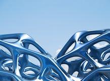 3D metaal Structurele illustratie/geeft terug Stock Afbeelding