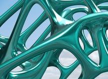 3D metaal Structurele illustratie/geeft terug Royalty-vrije Stock Foto's