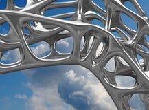 3D metaal Structurele illustratie/geeft terug Stock Foto