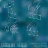 3D metaalbouw Royalty-vrije Stock Afbeeldingen