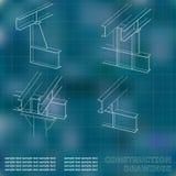 3D metaalbouw Royalty-vrije Stock Fotografie