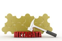 3d metadata concept Royalty Free Stock Image