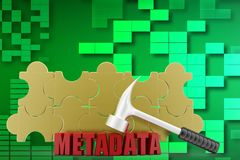 3d metadata illustration Stock Image