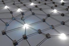 3D metaforer, nätverk, internet, anslutning, struktur, organisation, grupp vektor illustrationer