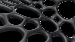 3d metal abstract background forming a cobweb structure. Stock Photo