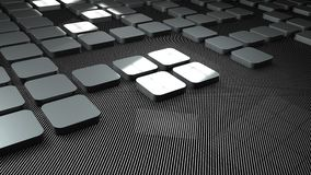 3d metal and carbon squares background. 3d illustration Royalty Free Stock Image