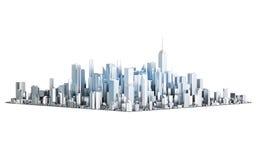 3D metal city Stock Photography