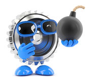 3d Metal cog has a bomb Royalty Free Stock Photography