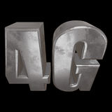 3D metal 4G icon on black. Metal 4G icon on black background. 3D render letters Stock Photos