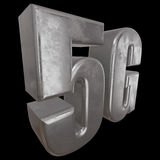 3D metal 5G icon on black Stock Photos