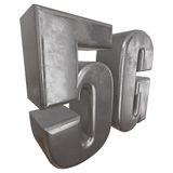 3D metal 5G icon on white. Metal 5G icon on white background. 3D render letters Royalty Free Stock Photography