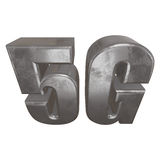 3D metal 5G icon on white. Metal 5G icon on white background. 3D render letters Royalty Free Stock Photos