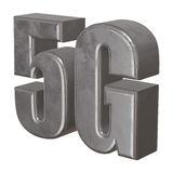 3D metal 5G icon on white Stock Photography
