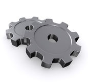 3D metal gears. Royalty Free Stock Photo