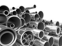 3d metal pipe Royalty Free Stock Images