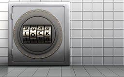 3d metal safe code lock door Royalty Free Stock Photo