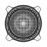 3d metal speaker with grill sound system deejay DJ tools Stock Photo