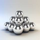 3d metal spheres. On white stock illustration
