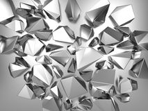 3d metallic abstract crystal background Royalty Free Stock Photography