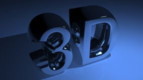 3D in metallic blue Stock Photography
