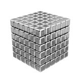 3D Metallic Cubes. Isolated on White or Transparent Background Stock Image
