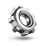 3D metallic gear isolated on white background Royalty Free Stock Photo