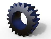 3D metallic gear with shadow Royalty Free Stock Photography