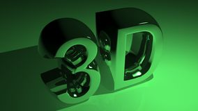 3D in metallic green royalty free illustration