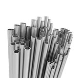 3d Metallic pipes Royalty Free Stock Photography