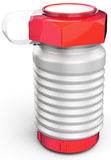 3d  metallic sports water bottle Stock Photography
