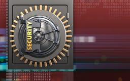 3d metalu bezpieczna skrytka Zdjęcie Royalty Free